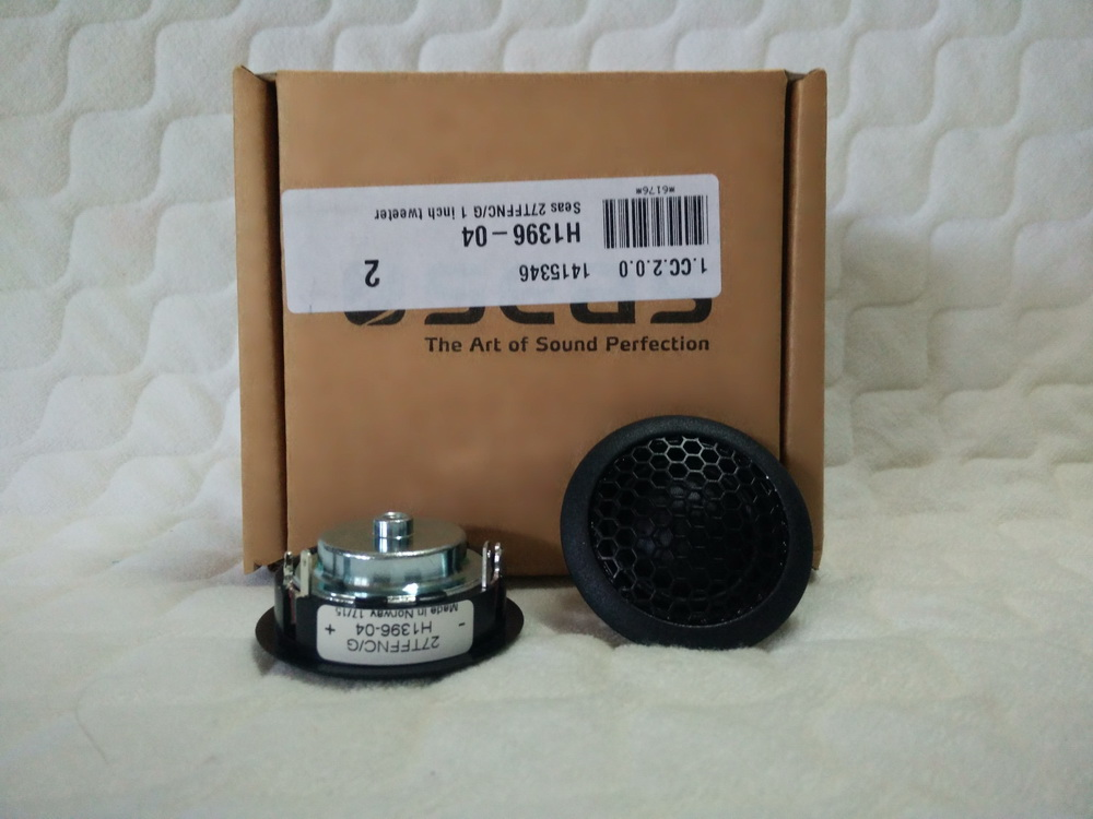 Seas 27TFFNC/G 1 inch tweeter (ของใหม่)